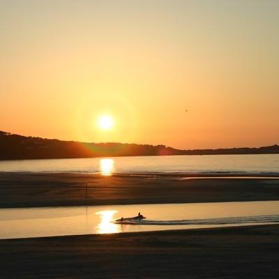 hayle beach sunrise